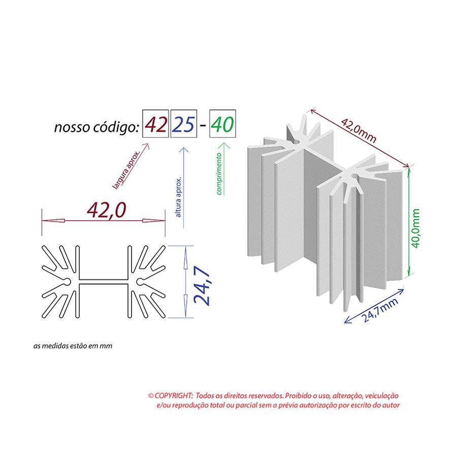 Dissipador de Calor RDD 4225-40