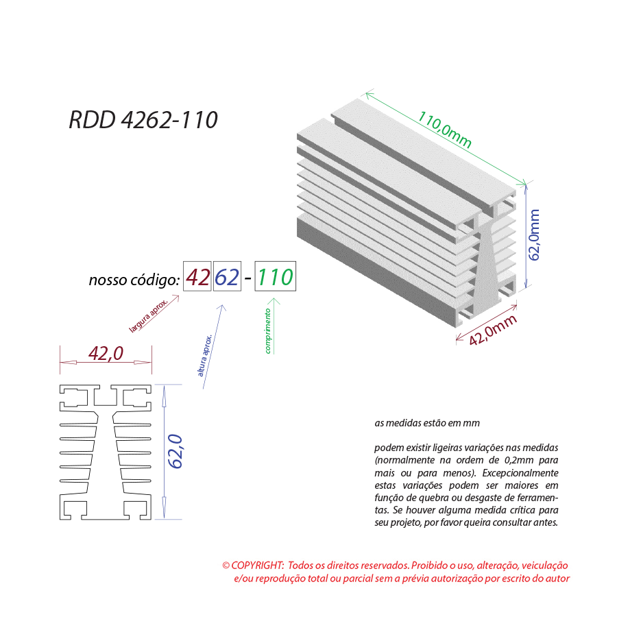 Dissipador de calor RDD 4262-110