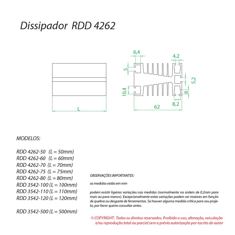 Dissipador de calor RDD 4262-60