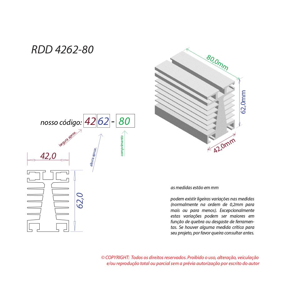 Dissipador de calor RDD 4262-80