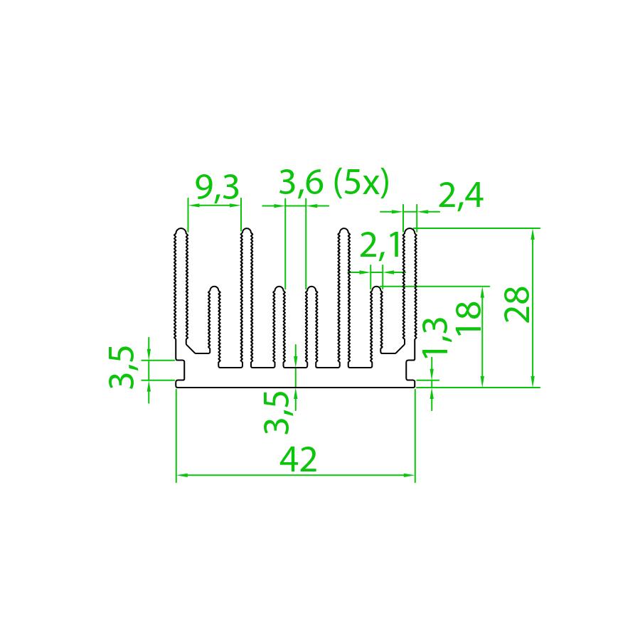 Dissipador de Calor RDD 4328-100