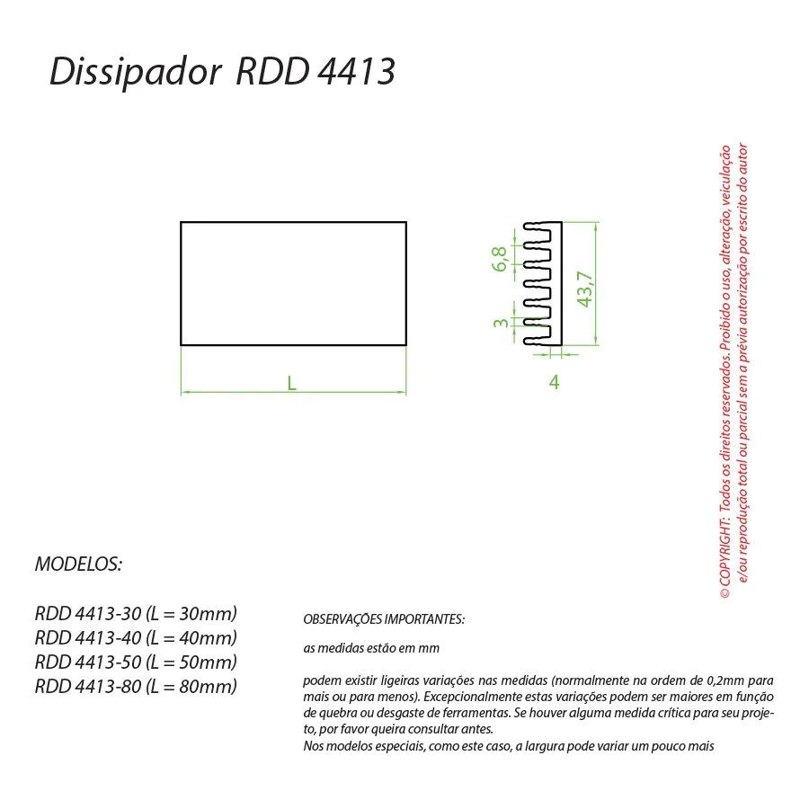 Dissipador de Calor RDD 4413-140