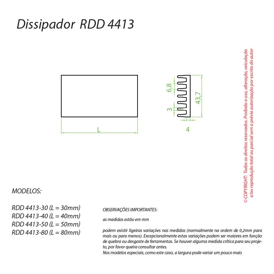 Dissipador de Calor RDD 4413-40
