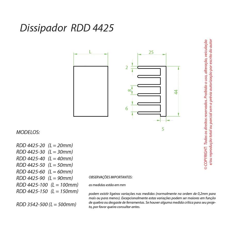 Dissipador de Calor RDD 4425-200