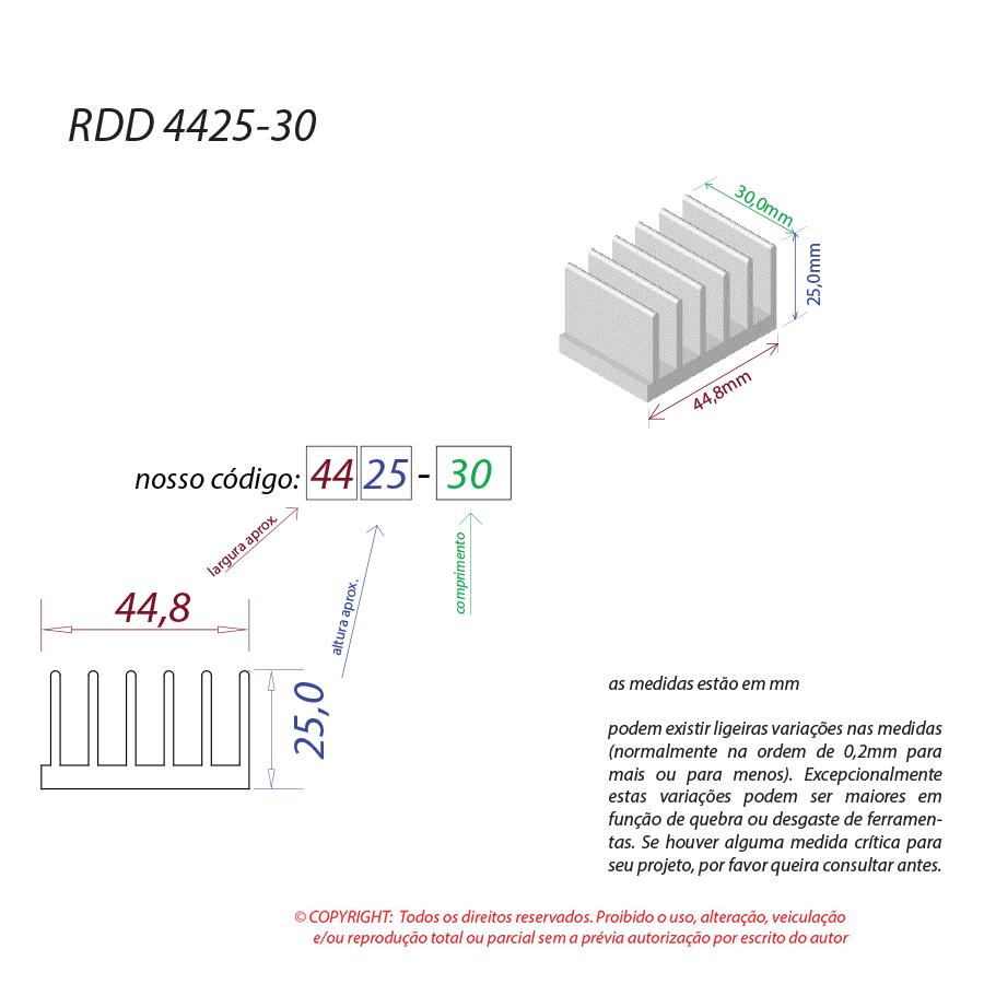 Dissipador de Calor RDD 4425-30