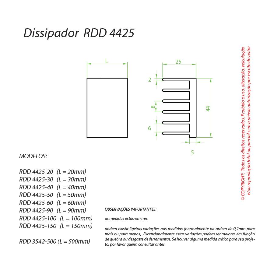 Dissipador de Calor RDD 4425-400