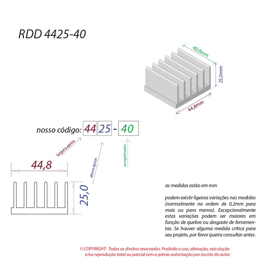 Dissipador de Calor RDD 4425-40
