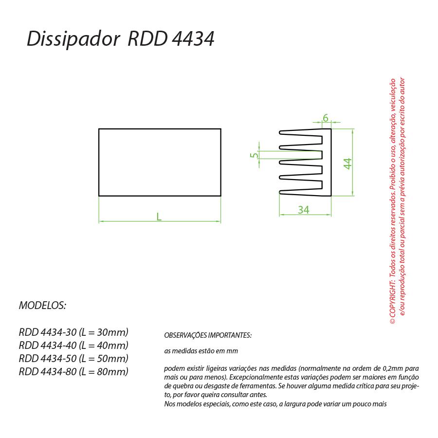 Dissipador de Calor RDD 4434-80