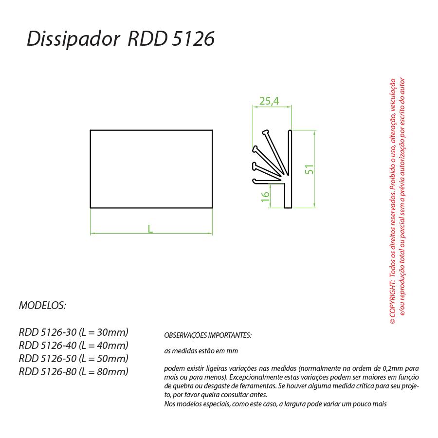Dissipador de Calor RDD 5126-40