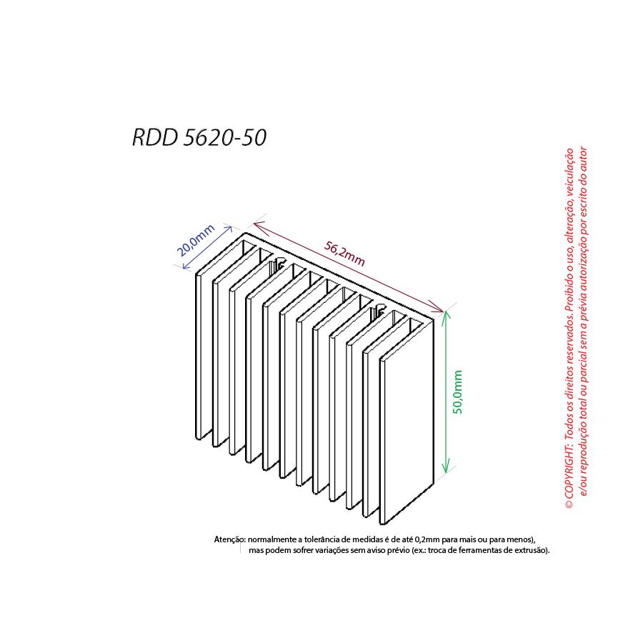 Dissipador de calor RDD 5620-50