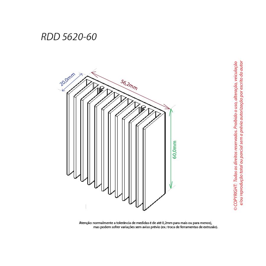 Dissipador de calor RDD 5620-60