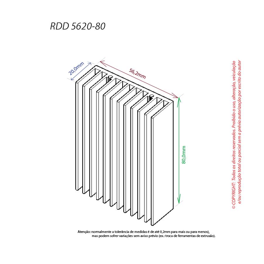 Dissipador de calor RDD 5620-80