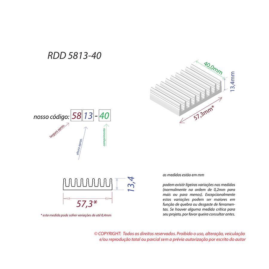 Dissipador de Calor RDD 5813-40