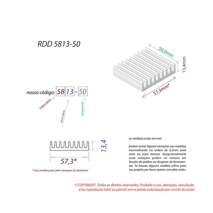 Dissipador de Calor RDD 5813-50