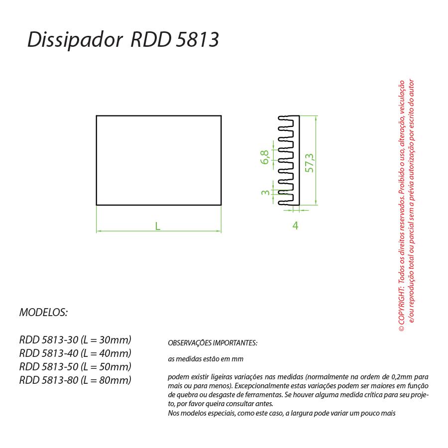 Dissipador de Calor RDD 5813-80