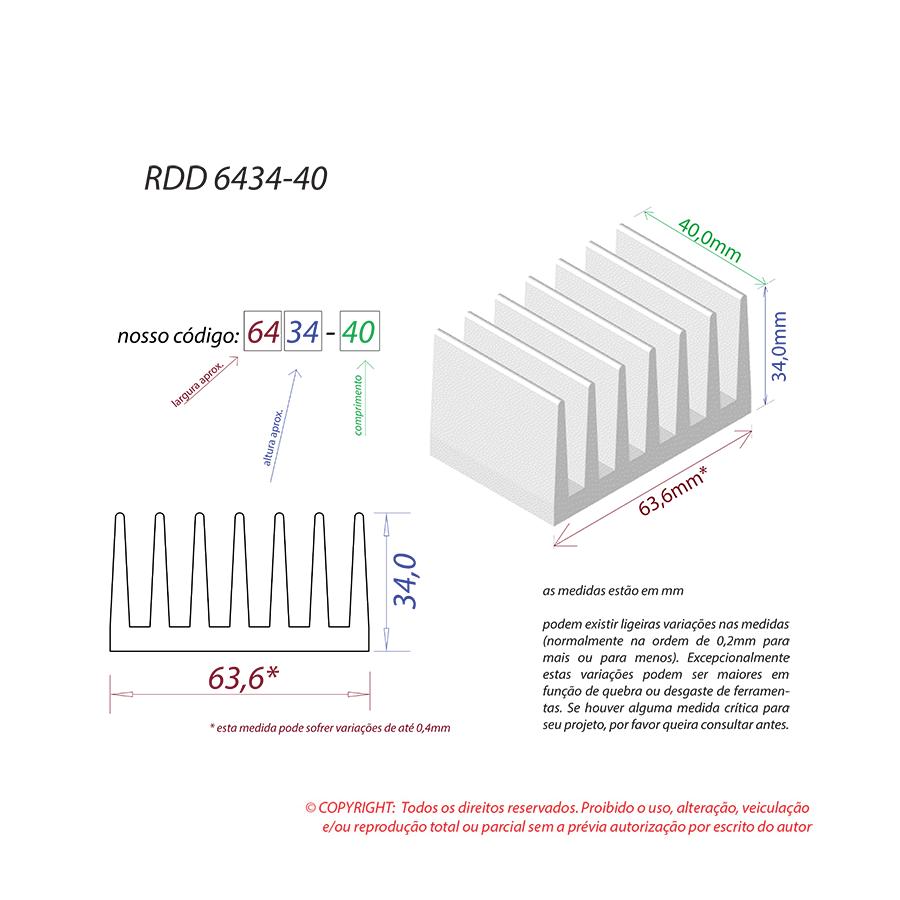 Dissipador de Calor RDD 6434-40