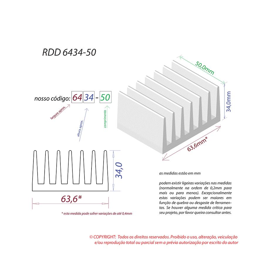 Dissipador de Calor RDD 6434-50