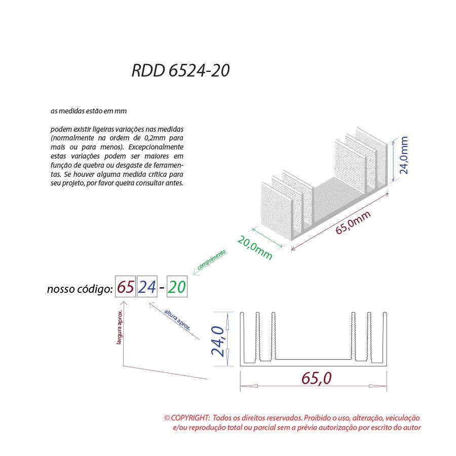 Dissipador de calor RDD 6524-20