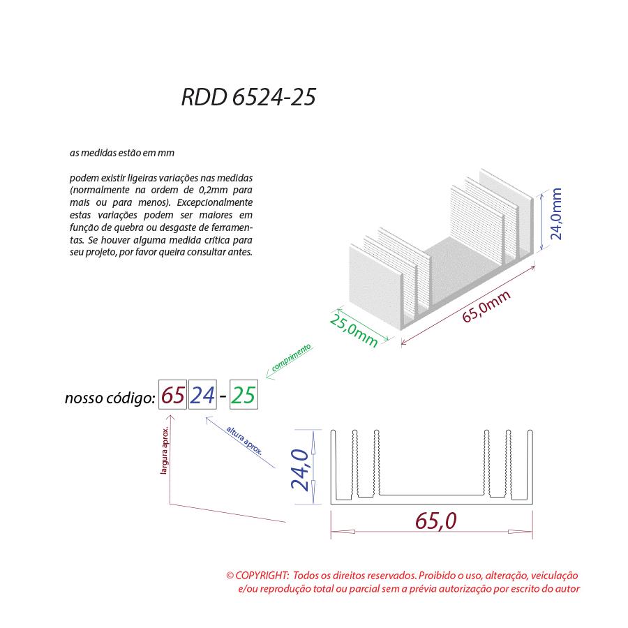 Dissipador de calor RDD 6524-25