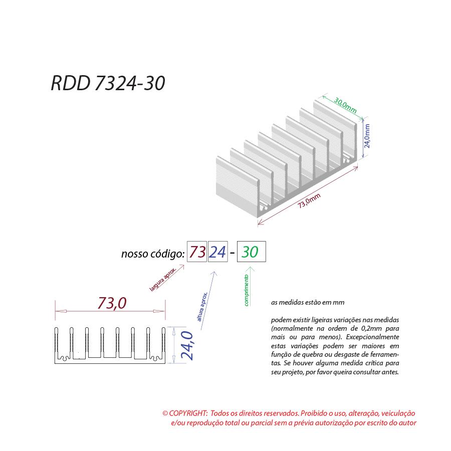 Dissipador de calor RDD 7324-30