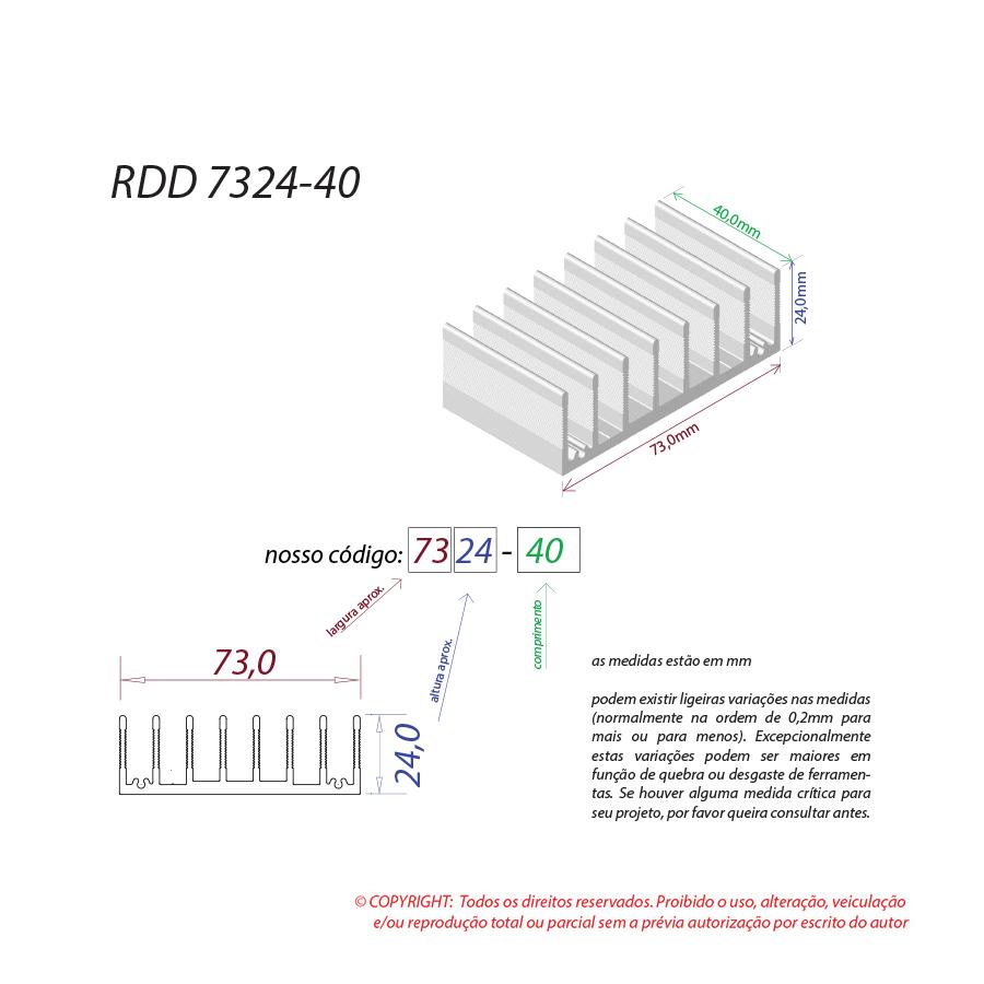 Dissipador de calor RDD 7324-40