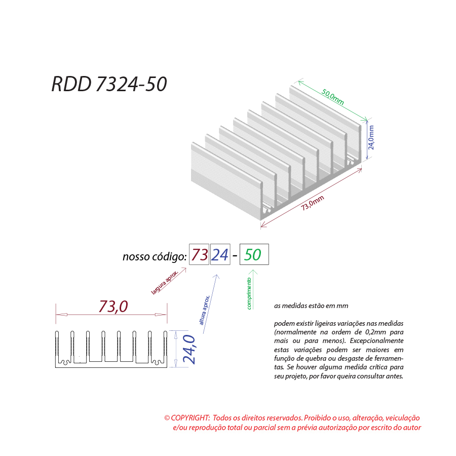Dissipador de calor RDD 7324-50
