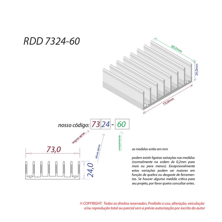 Dissipador de calor RDD 7324-60