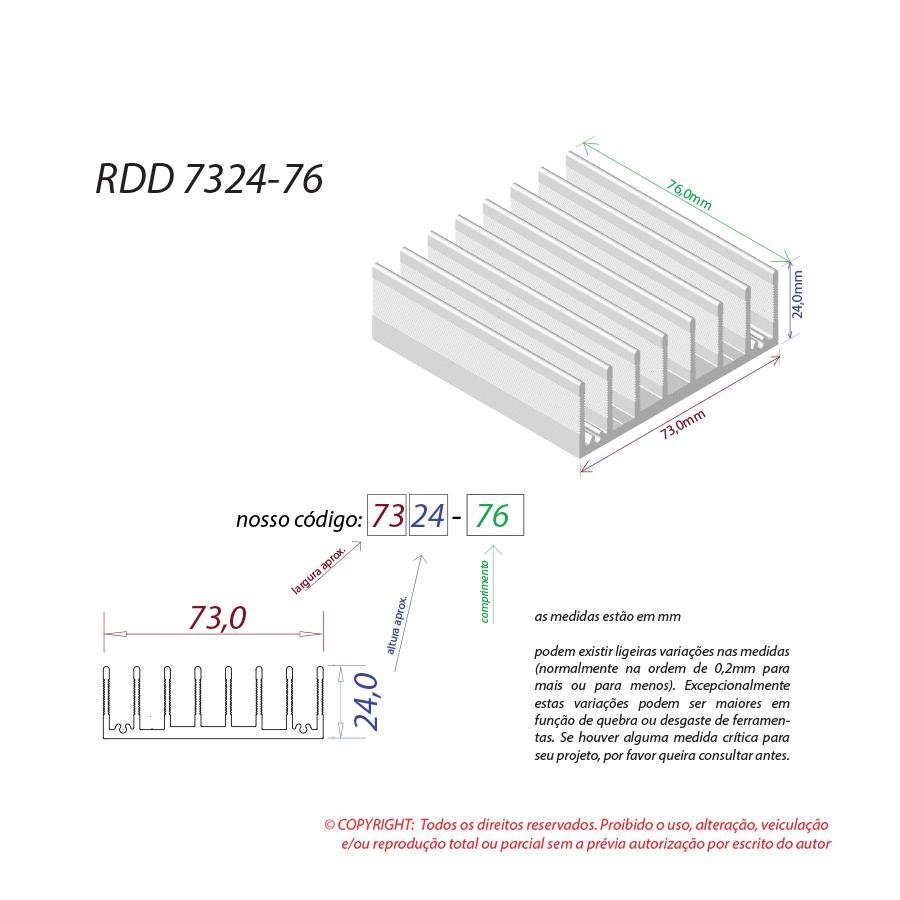 Dissipador de calor RDD 7324-76