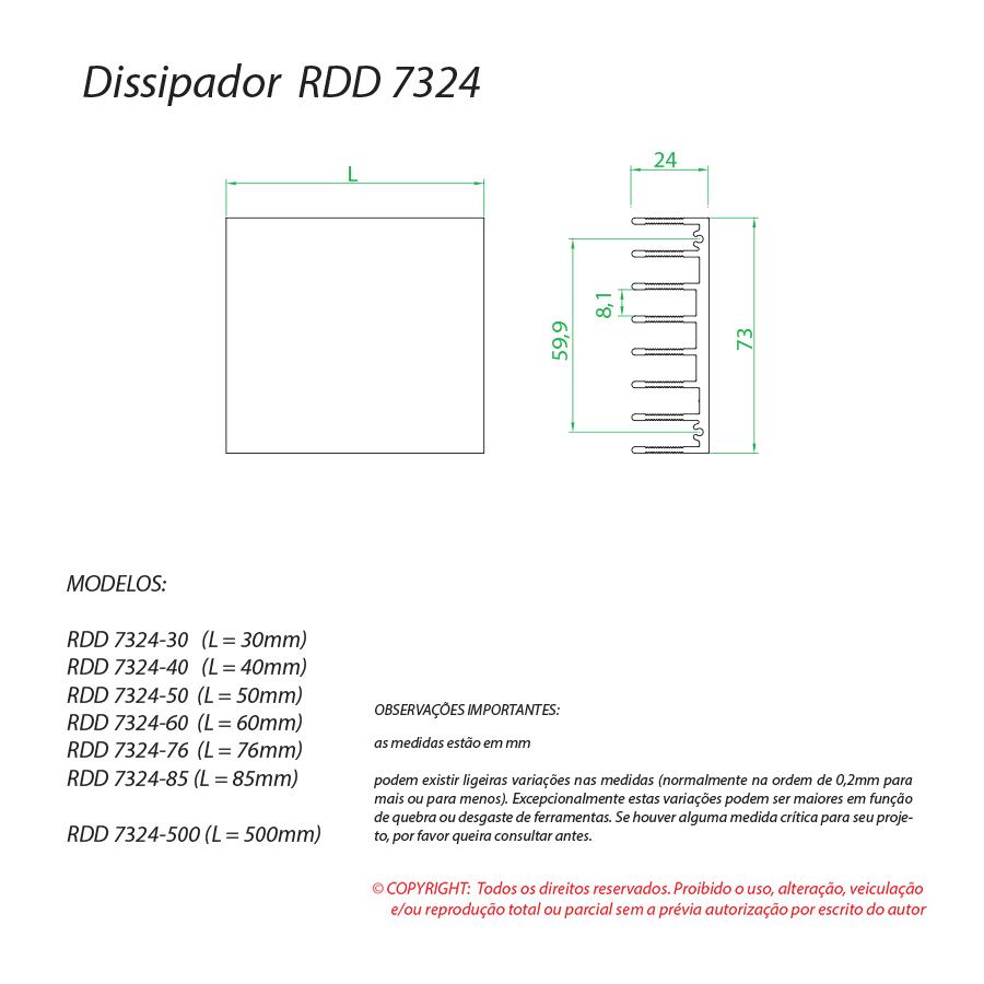Dissipador de calor RDD 7324-85