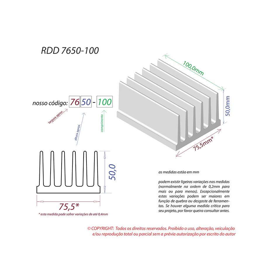 Dissipador de Calor RDD 7650-100