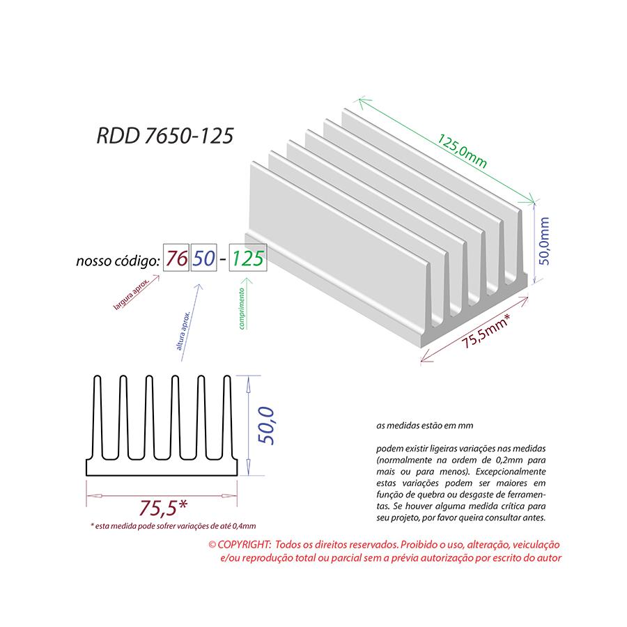 Dissipador de Calor RDD 7650-125