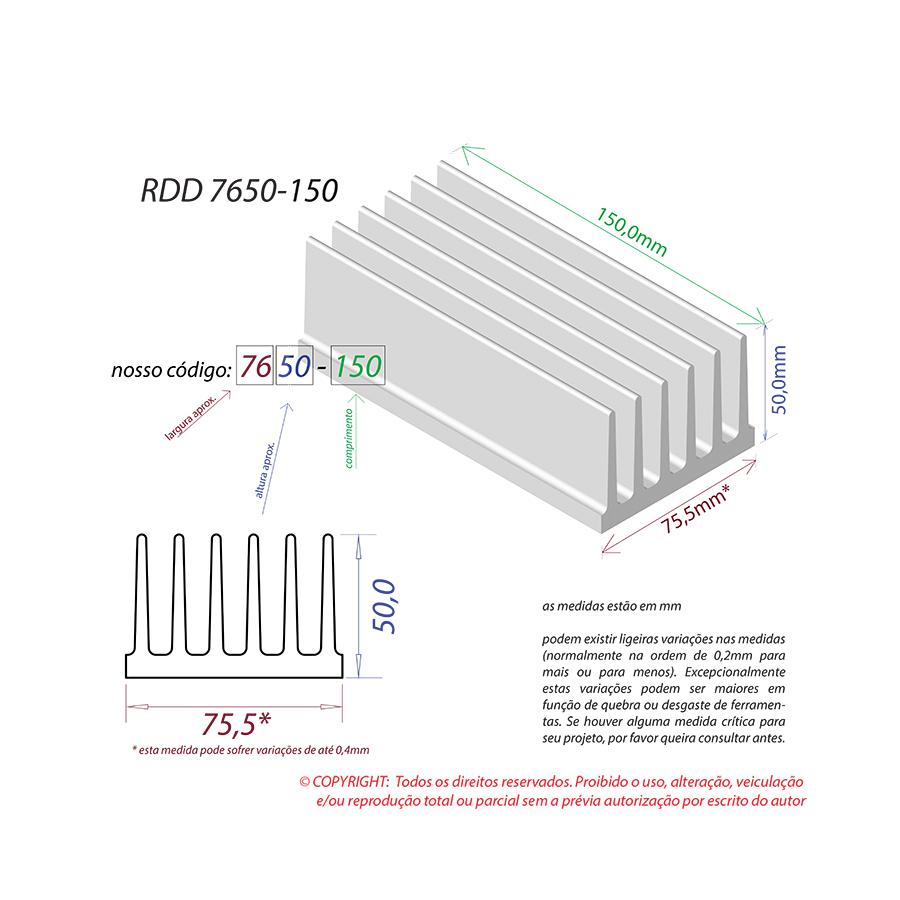 Dissipador de Calor RDD 7650-150