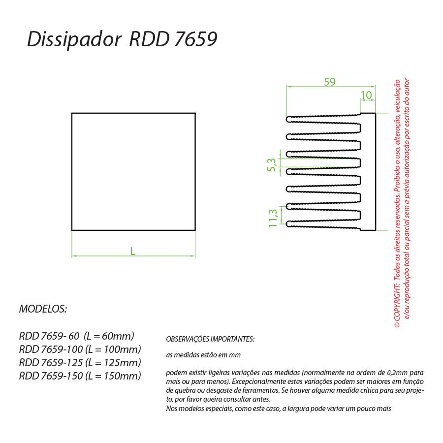 Dissipador de Calor RDD 7659-125