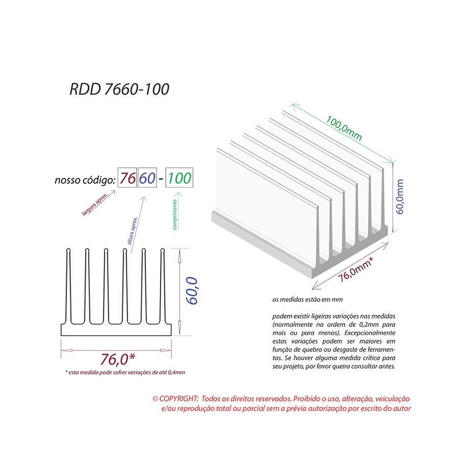 Dissipador de Calor RDD 7660-100
