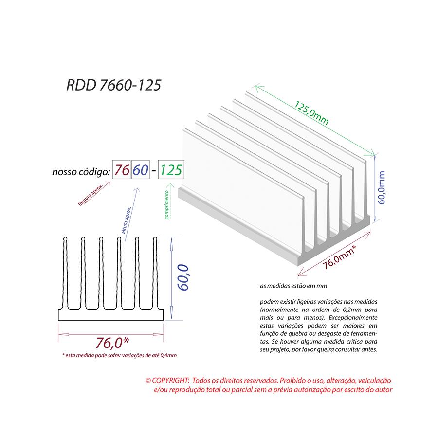 Dissipador de Calor RDD 7660-125