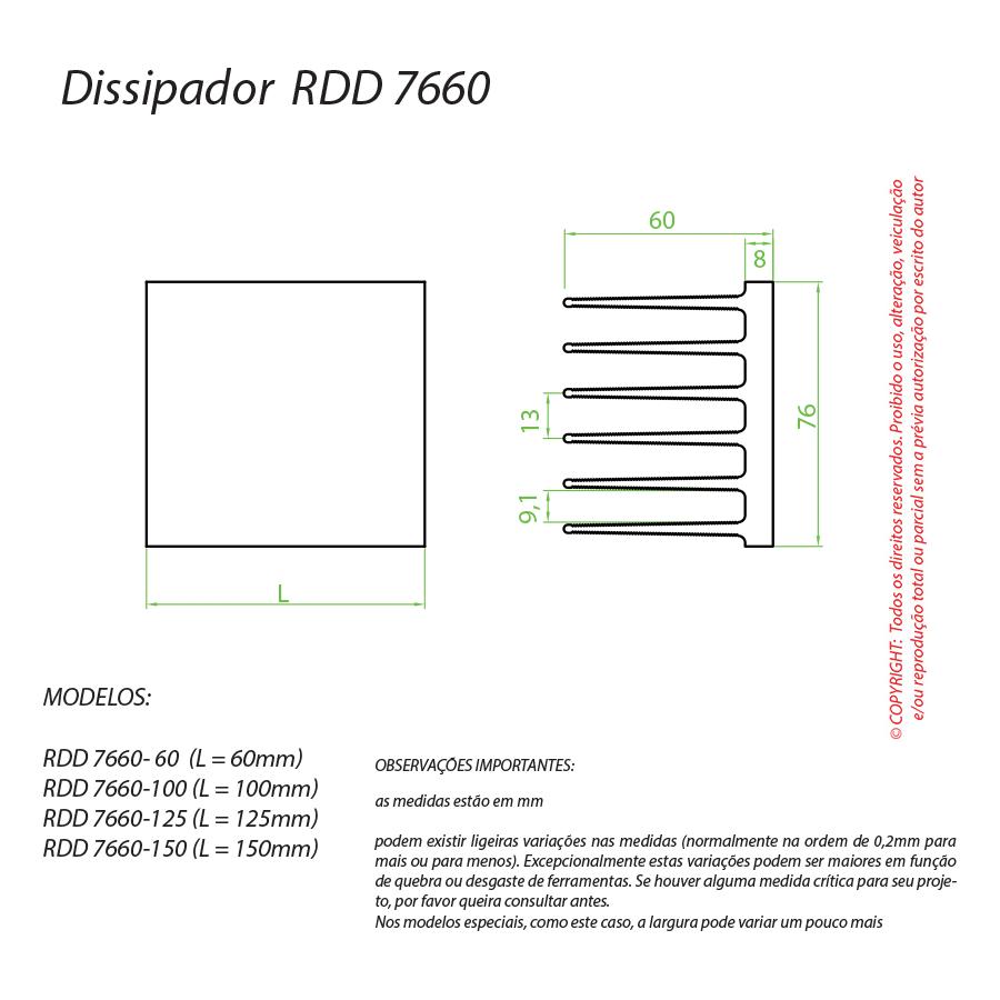 Dissipador de Calor RDD 7660-150
