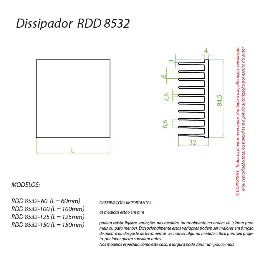 Dissipador de Calor RDD 8532-125