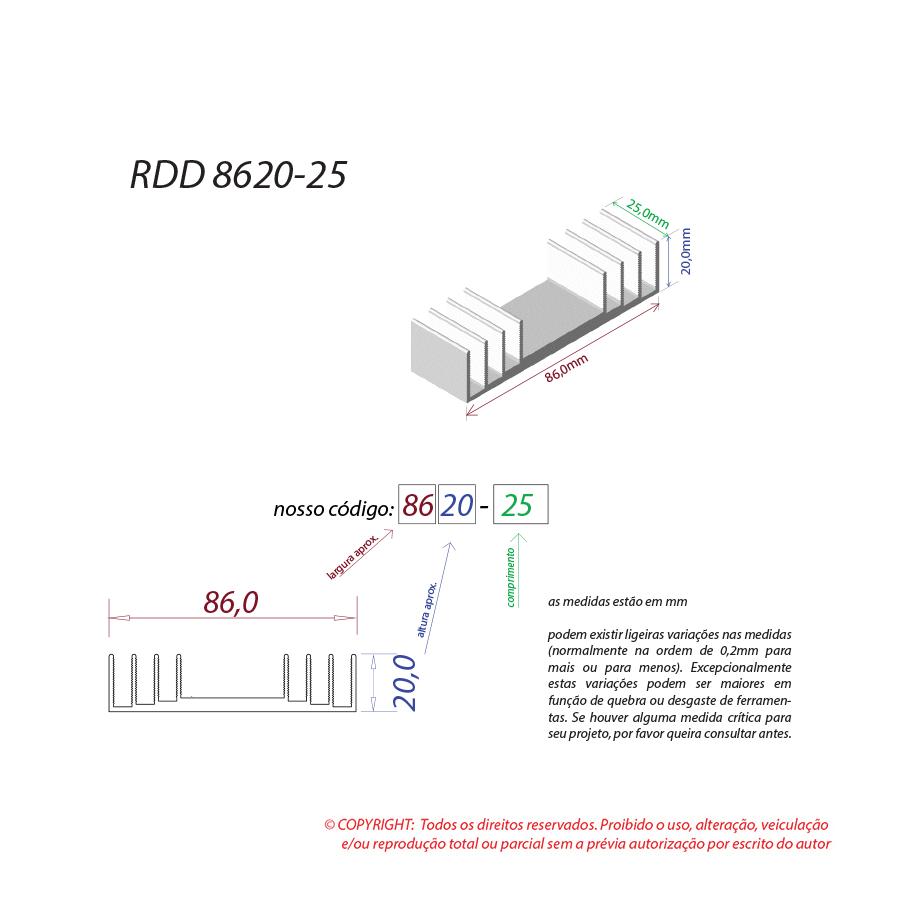 Dissipador de calor RDD 8620-25