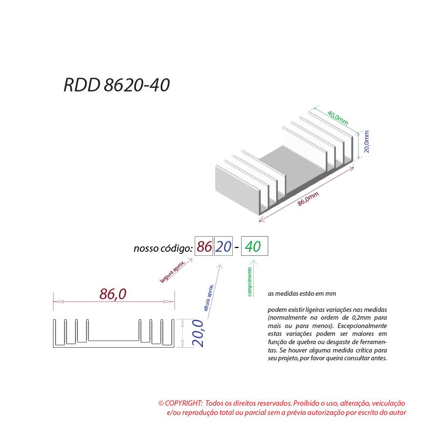 Dissipador de calor RDD 8620-40
