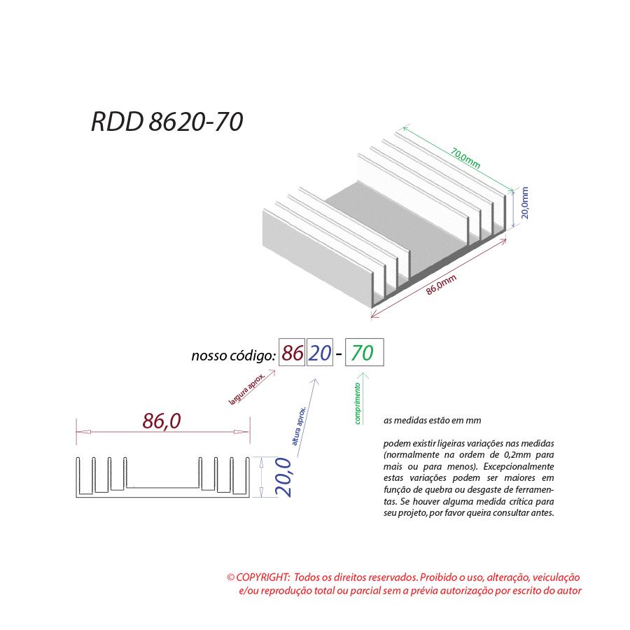 Dissipador de calor RDD 8620-70