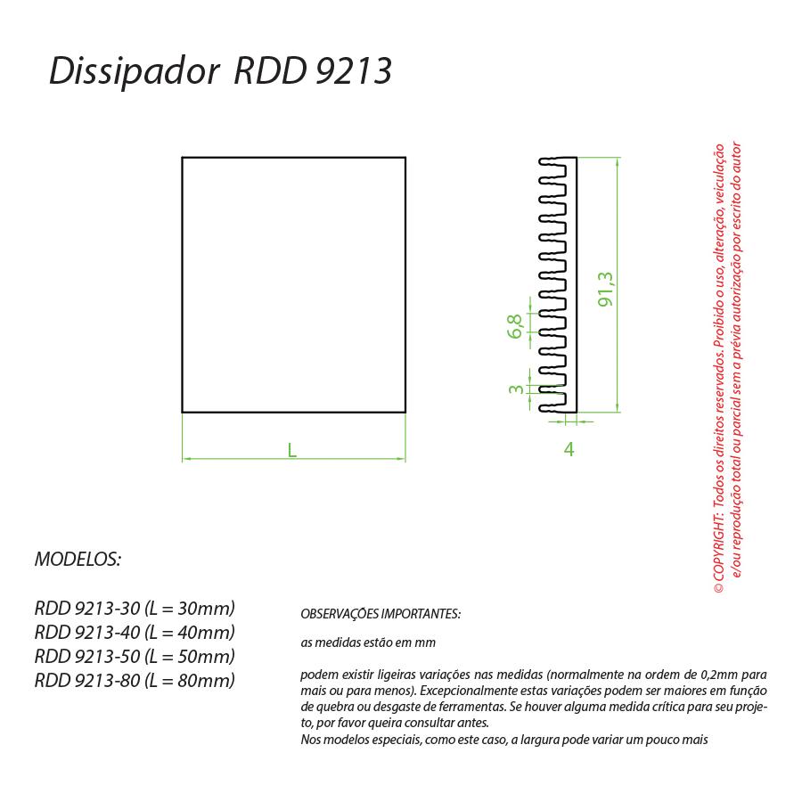 Dissipador de Calor RDD 9213-80
