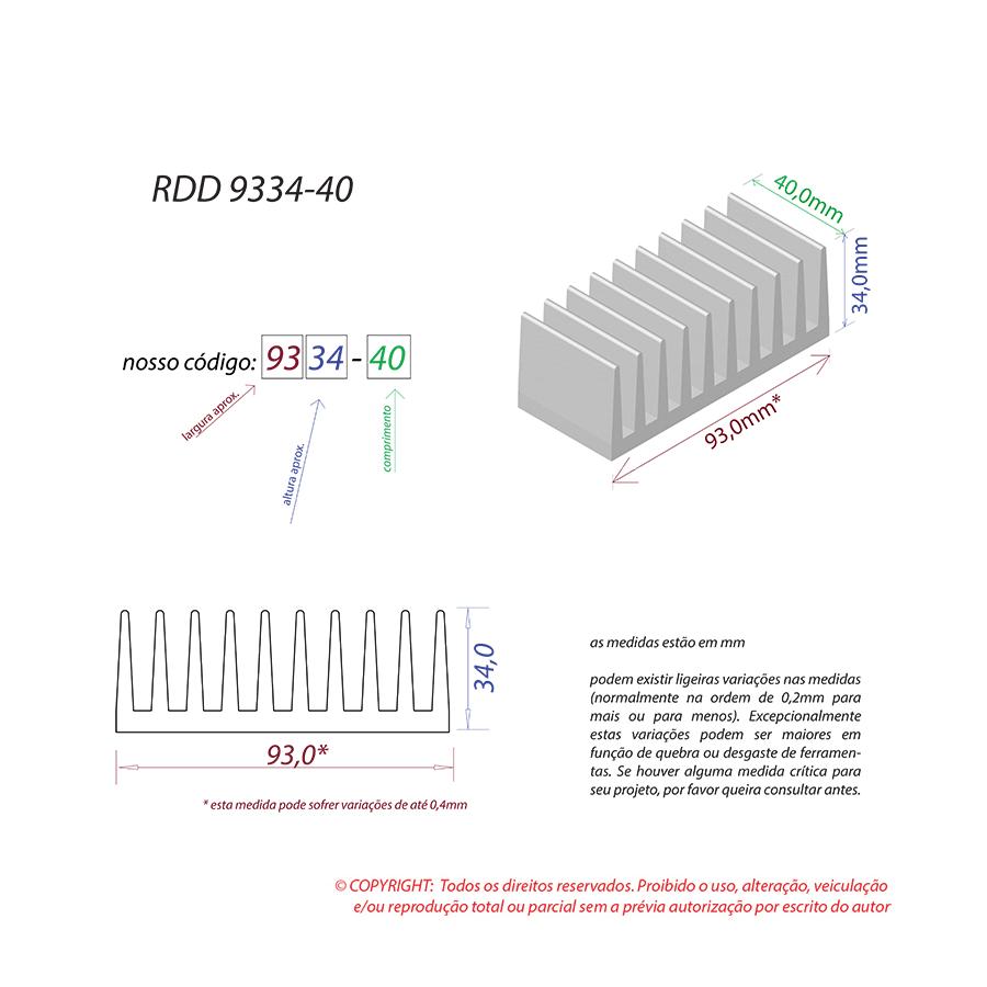 Dissipador de Calor RDD 9334-40