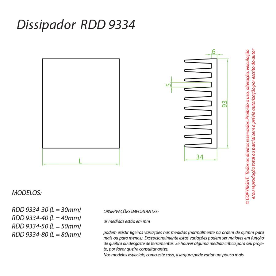 Dissipador de Calor RDD 9334-50
