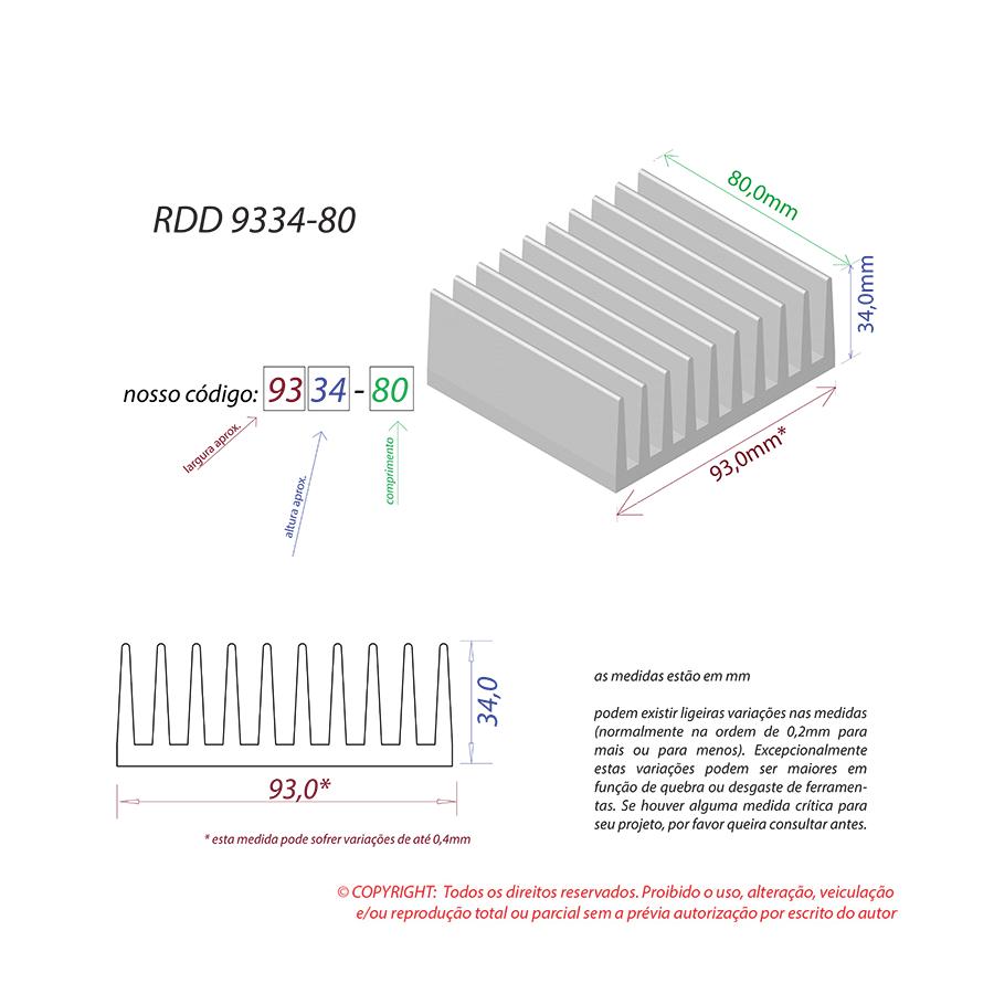 Dissipador de Calor RDD 9334-80