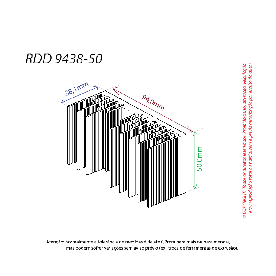 Dissipador de calor RDD 9438-50