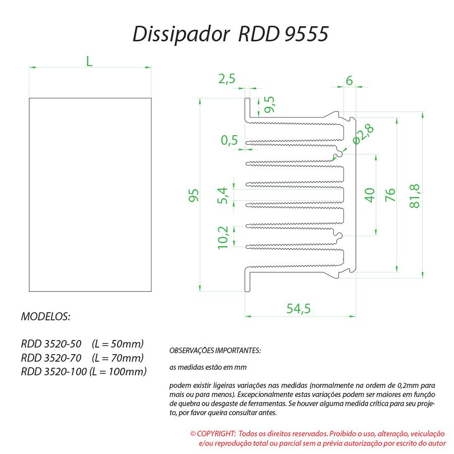 Dissipador de calor RDD 9555-100