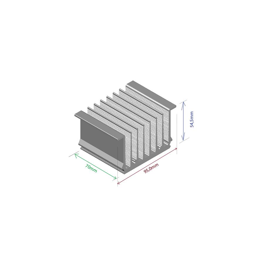 Dissipador de calor RDD 9555-70