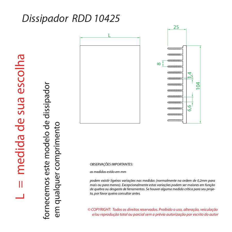 Dissipador Luminaria RDD 10425