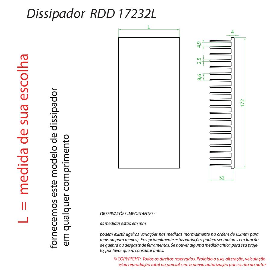 Dissipador Luminaria RDD17232L