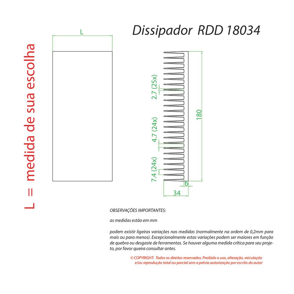 Dissipador Luminaria RDD18034